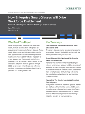 How Enterprise Smart Glasses Will Drive Workforce Enablement