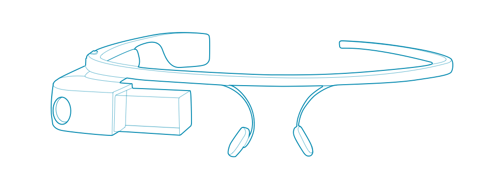 Google glass for wearable software