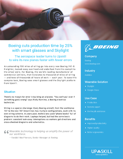 boeing wiring harness boeing cut wiring production time by 25  upskill  boeing cut wiring production time by 25