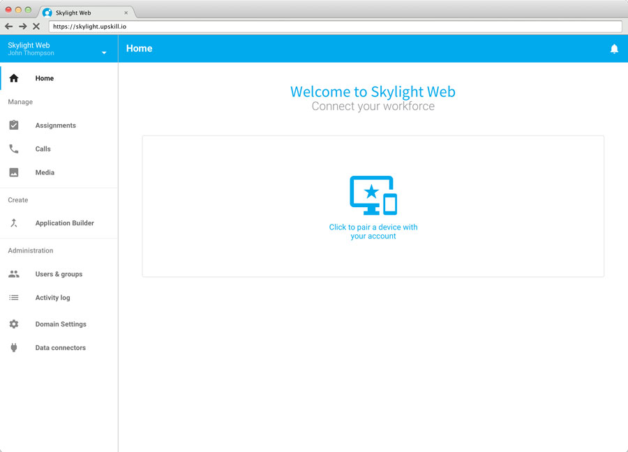 Skylight Augmented Reality Web Interface