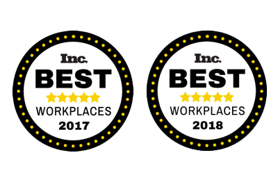 Upskill's INC Award, Best Workplaces 2017 and 2018
