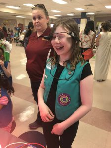 Girl Scout at Upskill STEM event