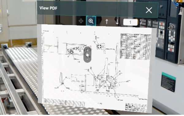 Augmented REality application for pdf schematics